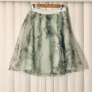 Ted Baker London Roshini Green Floral Midi Skirt